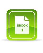 High resolution green ebook icon on white background.